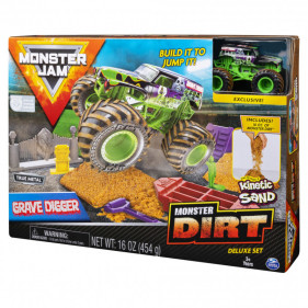 Monster Jam Kinetic Dirt Deluxe Sets : Grave Digger