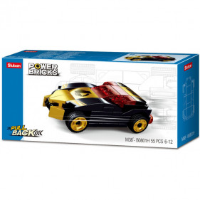 Cars Pull Back : Gold Black Winner
