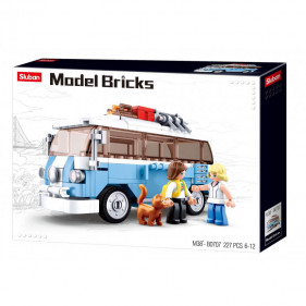 Model Bricks Cars - Classic Hippy Bus