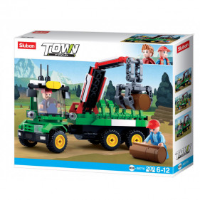 Town Farm - Tractor with Log Trailer