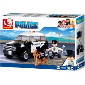 Police : Police car with Police dog