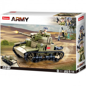 Sluban Army - Medium Italian Tank  2in1