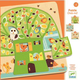 Puzzle en bois 3 niveaux - Chez nut