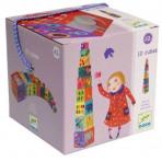 Jeux d'Eveil pour enfants - Cubes - 10 Cubes à empiler animaux - Livraison rapide Tunisie