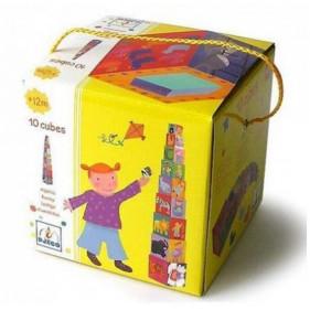 Cubes - 10 Cubes à empiler rigolos