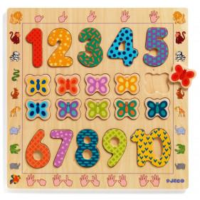 Puzzle en bois - 1 to 10