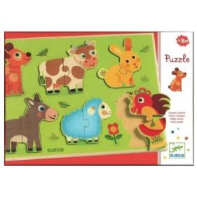 Puzzle en bois - Coucou Cow