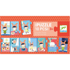 Puzzle Carton Trio - La journée