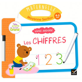 Ardoise - Livre Ardoise - Chiffres MS
