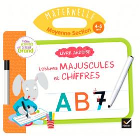 Ardoise - Livre Ardoise - Lettres majuscules et chiffres MS