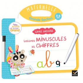 Ardoise - Livre Ardoise - Lettres minuscules et chiffres GS