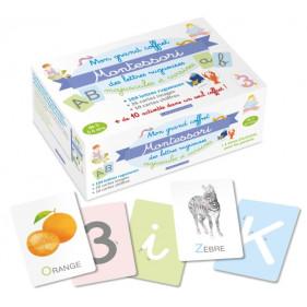 Larousse Coffret - Mon grand coffret Montessori - Lettres rugueuses