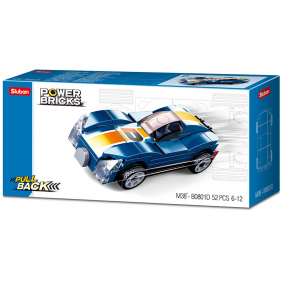 Cars Pull Back : Blue Monster