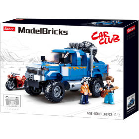 Model Bricks 4x4 - Blue Pick up