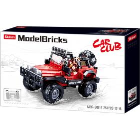 Model Bricks 4x4 - Red 4wd