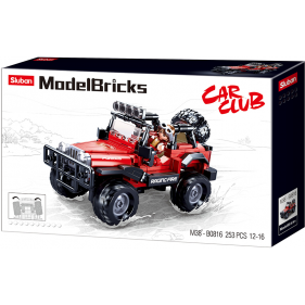 Model Bricks 4x4 - Red 4wd