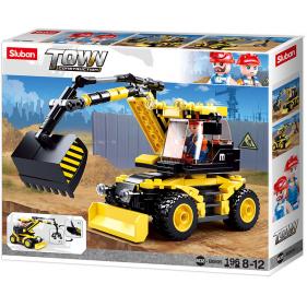 Town Construction - Excavator on wheels