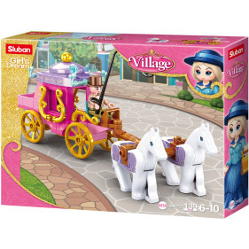 Girls Village : Horses with Carriage
