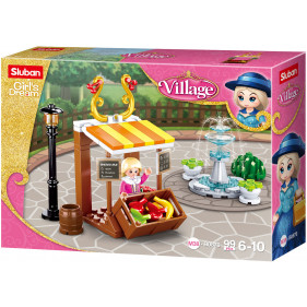 Girls Village : Vegetable stand