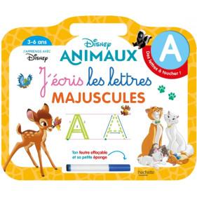 Ardoise Disney Animaux - J'écris les lettres majuscules