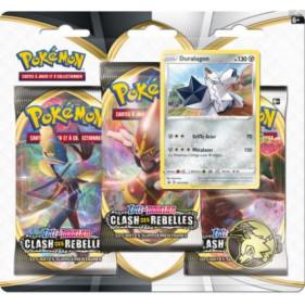 """Pack 3 boosters : Pokémon Épée et Bouclier """"Clash des Rebelles"""""""