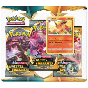 """Pack 3 boosters : Pokémon Épée et Bouclier """"Ténèbres Embrasées"""""""