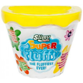 1 pot Slimy Super Fluffy - 100 Gr Jaune