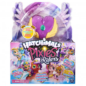 Hatchimals Pixie Riders Lilac Luna Swanling Swan