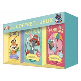 JEUX DE CARTES - MON COFFRET DE JEUX - 7 FAMILLES, MISTIGRI ET BATAILLE