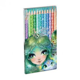 12 crayons de couleur en bois-pack - Water