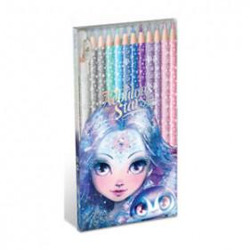 12 crayons de couleur en bois-pack - Frost