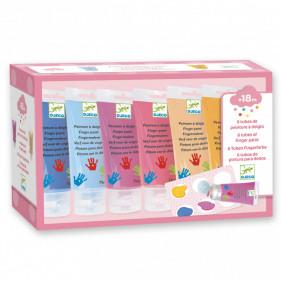 PEINTURE DES PETITS - 6 tubes de peinture à doigts - sweet
