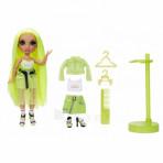 Jeux d'imagination pour enfants - Rainbow High Fashion Doll- Karma Nichols (Neon) - Livraison rapide Tunisie