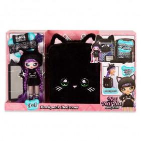Na! Na! Na! Surprise 3-in-1 Backpack Bedroom Playset- Black Kitty
