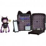 Jeux d'imagination pour enfants - Na! Na! Na! Surprise 3-in-1 Backpack Bedroom Playset- Black Kitty - Livraison rapide Tunisie