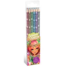 6 crayons de couleur en bois - Metallic