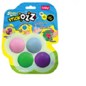 Slimy Stick Ozz - Pack de 4 - 2 Neon / 2 Glow in the Dark