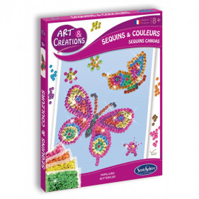 Art & Créations SEQUINS & COLOURS - PAPILLON