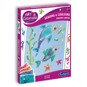 Art & Créations SEQUINS & COLOURS - DAUPHINS