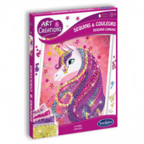 Art & Créations SEQUINS & COLOURS - LICORNE