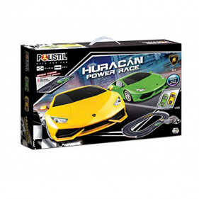1/43 - Circuit éléctrique Huracan Power race - 2 véhicules inclus