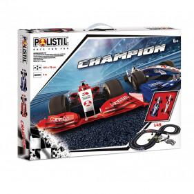 1/43 - Circuit éléctrique Champion Formula Racing - 2 véhicules inclus
