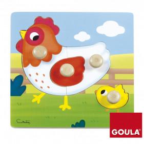 Puzzle Poule(22x22cm)