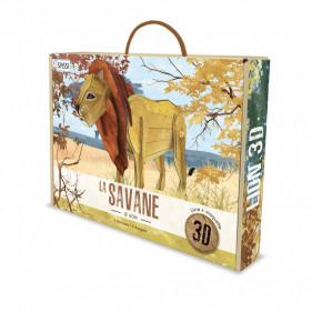 Maquette Animaux sauvages - La Savane. Le Lion 3D