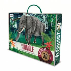 Maquette Animaux sauvages - La jungle. L'éléphant 3D