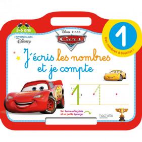 Ardoise Cars - J'écris les nombres et je compte