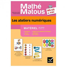 Les ateliers numériques MS-GS et ASH Mathé-matous - Matériel 100 cartes